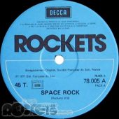 Space rock - FR (1977 - RE) - Etichetta lato A - © LesROCKETS.com